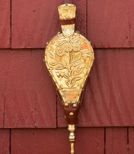 gold fireplace bellows